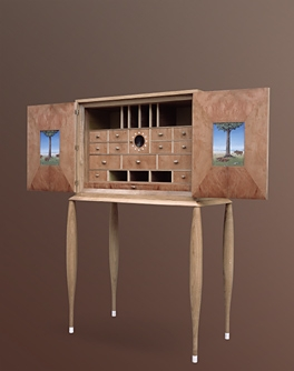 Cabinet de curiosit contemporain for Meuble cabinet de curiosite